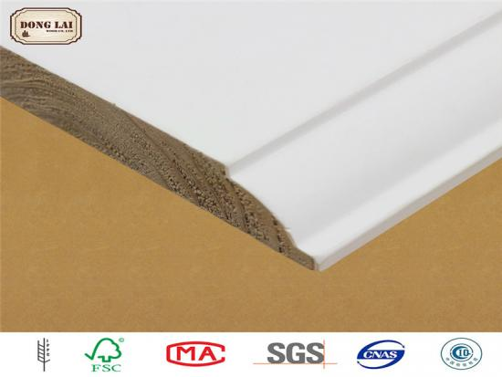 Prime Wood Moldings on Skirting Board